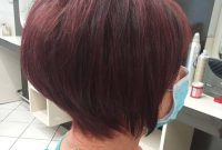 Red Black Short Bob Hairstyles