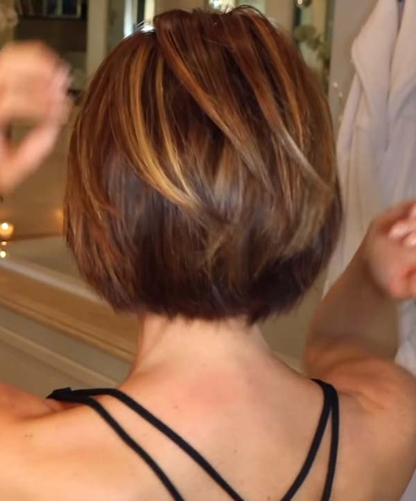 Short Bob Hairstyles with Bangs Back View 2021