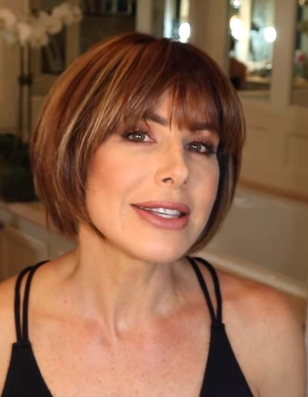 Short Bob Hairstyles with Bangs over 40