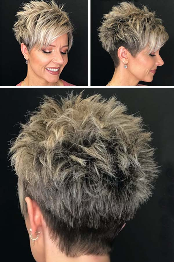 Short Spiky Hairstyles for Mature Women
